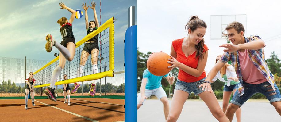 Вспомните правила и скажите, участники какой игры представляют собой команду - баскетбола или волейбола?